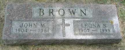 BROWN, JOHN M. - Minnehaha County, South Dakota | JOHN M. BROWN - South Dakota Gravestone Photos