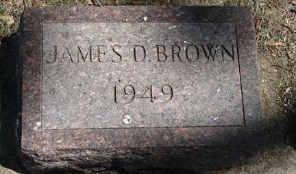BROWN, JAMES D. - Minnehaha County, South Dakota | JAMES D. BROWN - South Dakota Gravestone Photos