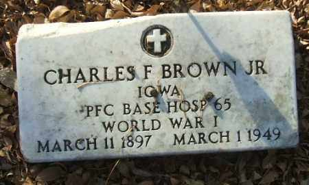 BROWN, CHARLES F. JR. (WWI) - Minnehaha County, South Dakota   CHARLES F. JR. (WWI) BROWN - South Dakota Gravestone Photos