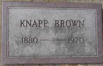 BROWN, KNAPP - Minnehaha County, South Dakota | KNAPP BROWN - South Dakota Gravestone Photos