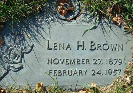 BROWN, LENA H. - Minnehaha County, South Dakota | LENA H. BROWN - South Dakota Gravestone Photos