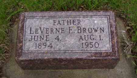 BROWN, LEVERNE ELLSWORTH - Minnehaha County, South Dakota | LEVERNE ELLSWORTH BROWN - South Dakota Gravestone Photos