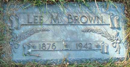 BROWN, LEE M. - Minnehaha County, South Dakota   LEE M. BROWN - South Dakota Gravestone Photos