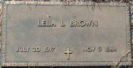 BROWN, LELA L. - Minnehaha County, South Dakota   LELA L. BROWN - South Dakota Gravestone Photos