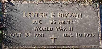 BROWN, LESTER E. - Minnehaha County, South Dakota | LESTER E. BROWN - South Dakota Gravestone Photos