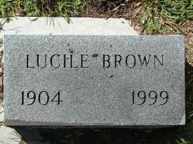 BROWN, LUCILE - Minnehaha County, South Dakota | LUCILE BROWN - South Dakota Gravestone Photos