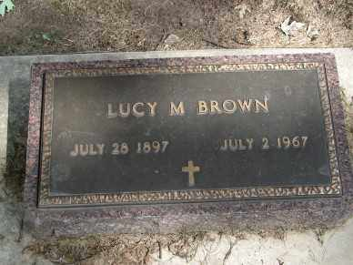 BROWN, LUCY M. - Minnehaha County, South Dakota   LUCY M. BROWN - South Dakota Gravestone Photos