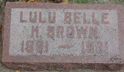 BROWN, LULU BELLE H. - Minnehaha County, South Dakota | LULU BELLE H. BROWN - South Dakota Gravestone Photos