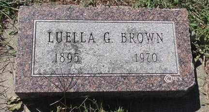 BROWN, LUELLA G. - Minnehaha County, South Dakota | LUELLA G. BROWN - South Dakota Gravestone Photos