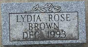 BROWN, LYDIA ROSE - Minnehaha County, South Dakota   LYDIA ROSE BROWN - South Dakota Gravestone Photos