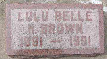 BROWN, LULU BELLE H. - Minnehaha County, South Dakota | LULU BELLE H. BROWN - South Dakota Gravestone Photos