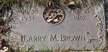 BROWN, LARRY M. - Minnehaha County, South Dakota   LARRY M. BROWN - South Dakota Gravestone Photos