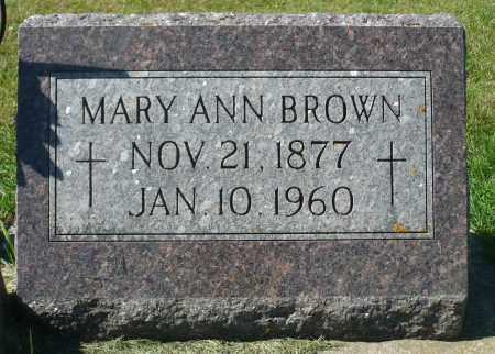 BROWN, MARY ANN - Minnehaha County, South Dakota | MARY ANN BROWN - South Dakota Gravestone Photos