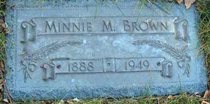 BROWN, MINNIE M. - Minnehaha County, South Dakota | MINNIE M. BROWN - South Dakota Gravestone Photos