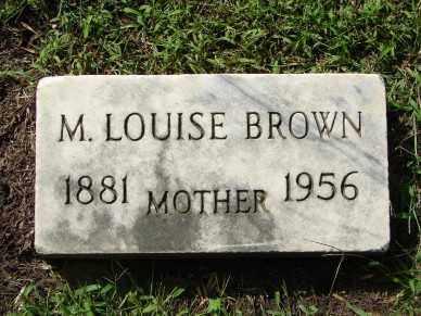 BROWN, M. LOUISE - Minnehaha County, South Dakota | M. LOUISE BROWN - South Dakota Gravestone Photos