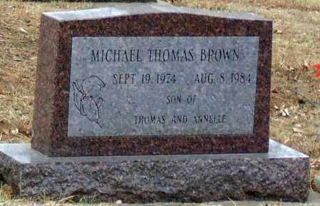 BROWN, MICHAEL THOMAS - Minnehaha County, South Dakota | MICHAEL THOMAS BROWN - South Dakota Gravestone Photos