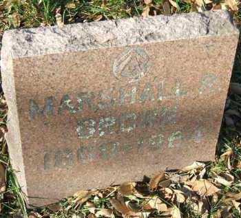 BROWN, MARSHALL R. - Minnehaha County, South Dakota | MARSHALL R. BROWN - South Dakota Gravestone Photos