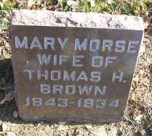 BROWN, MARY - Minnehaha County, South Dakota | MARY BROWN - South Dakota Gravestone Photos