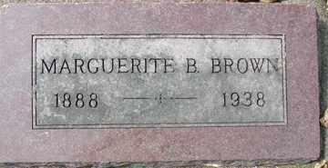 BROWN, MARGUERITE B. - Minnehaha County, South Dakota | MARGUERITE B. BROWN - South Dakota Gravestone Photos