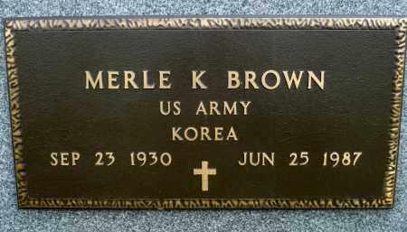 BROWN, MERLE K. (KOREA) - Minnehaha County, South Dakota | MERLE K. (KOREA) BROWN - South Dakota Gravestone Photos