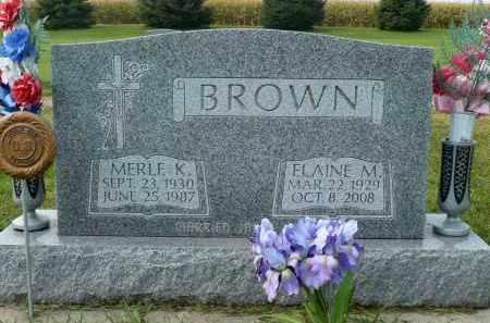 BROWN, ELAINE M. - Minnehaha County, South Dakota | ELAINE M. BROWN - South Dakota Gravestone Photos