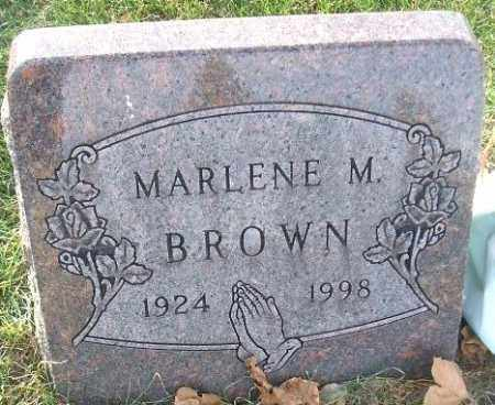 BROWN, MARLENE M. - Minnehaha County, South Dakota | MARLENE M. BROWN - South Dakota Gravestone Photos