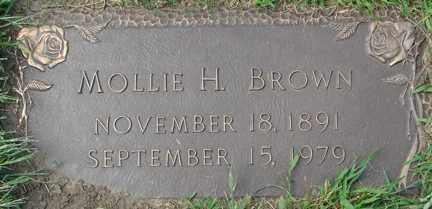 BROWN, MOLLIE H. - Minnehaha County, South Dakota | MOLLIE H. BROWN - South Dakota Gravestone Photos