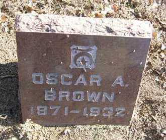 BROWN, OSCAR A. - Minnehaha County, South Dakota   OSCAR A. BROWN - South Dakota Gravestone Photos