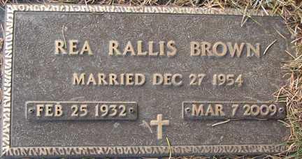 BROWN, REA - Minnehaha County, South Dakota | REA BROWN - South Dakota Gravestone Photos
