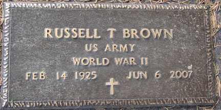 BROWN, RUSSELL T. - Minnehaha County, South Dakota | RUSSELL T. BROWN - South Dakota Gravestone Photos
