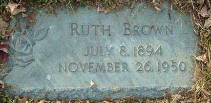BROWN, RUTH - Minnehaha County, South Dakota | RUTH BROWN - South Dakota Gravestone Photos