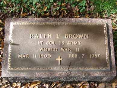 BROWN, RALPH L. - Minnehaha County, South Dakota | RALPH L. BROWN - South Dakota Gravestone Photos