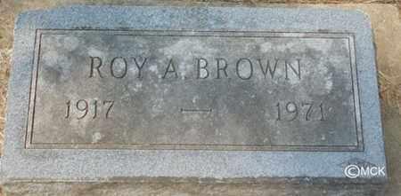 BROWN, ROY A. - Minnehaha County, South Dakota | ROY A. BROWN - South Dakota Gravestone Photos