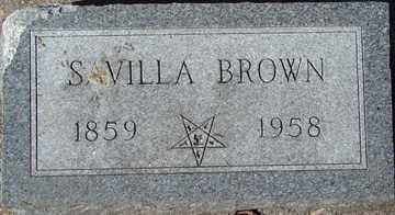 BROWN, SAVILLA - Minnehaha County, South Dakota | SAVILLA BROWN - South Dakota Gravestone Photos