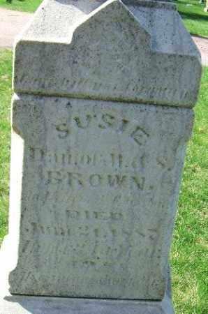 BROWN, SUSIE - Minnehaha County, South Dakota | SUSIE BROWN - South Dakota Gravestone Photos