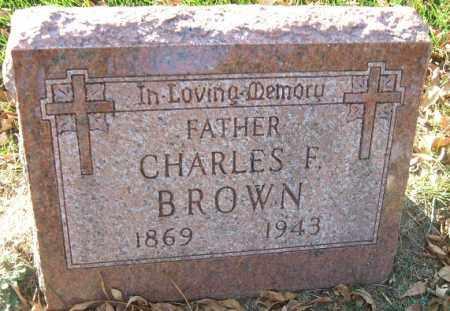 BROWN, CHARLES F. - Minnehaha County, South Dakota | CHARLES F. BROWN - South Dakota Gravestone Photos