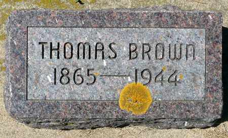 BROWN, THOMAS - Minnehaha County, South Dakota | THOMAS BROWN - South Dakota Gravestone Photos