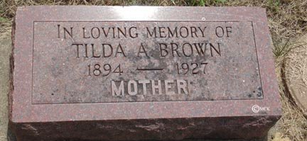 BROWN, TILDA A. - Minnehaha County, South Dakota | TILDA A. BROWN - South Dakota Gravestone Photos
