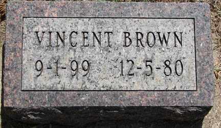 BROWN, VINCENT - Minnehaha County, South Dakota | VINCENT BROWN - South Dakota Gravestone Photos