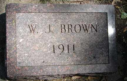 BROWN, W.J. - Minnehaha County, South Dakota | W.J. BROWN - South Dakota Gravestone Photos