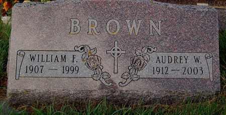 BROWN, AUDREY W. - Minnehaha County, South Dakota | AUDREY W. BROWN - South Dakota Gravestone Photos
