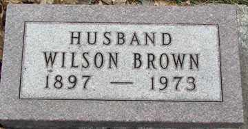 BROWN, WILSON - Minnehaha County, South Dakota   WILSON BROWN - South Dakota Gravestone Photos
