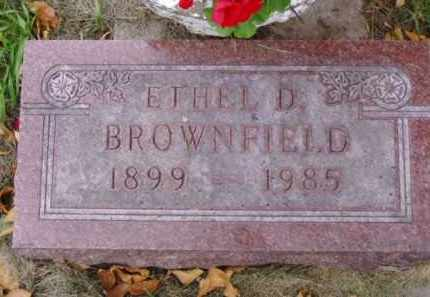 BROWNFIELD, ETHEL D. - Minnehaha County, South Dakota | ETHEL D. BROWNFIELD - South Dakota Gravestone Photos