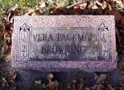 PACKMAN BROWNING, VERA - Minnehaha County, South Dakota | VERA PACKMAN BROWNING - South Dakota Gravestone Photos