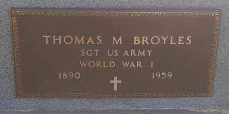 BROYLES, THOMAS M. (WW I) - Minnehaha County, South Dakota | THOMAS M. (WW I) BROYLES - South Dakota Gravestone Photos