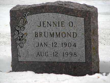 BRUMMOND, JENNIE O. - Minnehaha County, South Dakota | JENNIE O. BRUMMOND - South Dakota Gravestone Photos