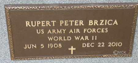 BRZICA, RUPERT PETER - Minnehaha County, South Dakota | RUPERT PETER BRZICA - South Dakota Gravestone Photos