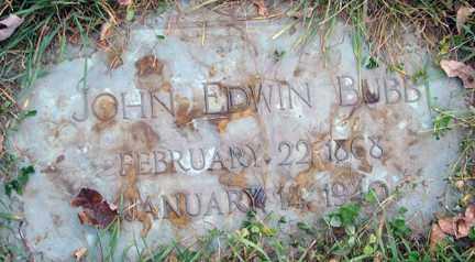 BUBB, JOHN EDWIN - Minnehaha County, South Dakota | JOHN EDWIN BUBB - South Dakota Gravestone Photos