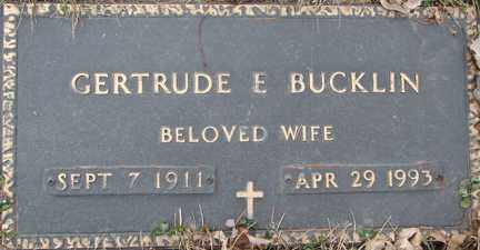 BUCKLIN, GERTRUDE E. - Minnehaha County, South Dakota | GERTRUDE E. BUCKLIN - South Dakota Gravestone Photos
