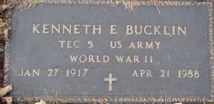 BUCKLIN, KENNETH E. (WWII) - Minnehaha County, South Dakota   KENNETH E. (WWII) BUCKLIN - South Dakota Gravestone Photos